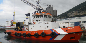 Gibraltar Harbor towing, port tug, RESOLVE, TP Towage